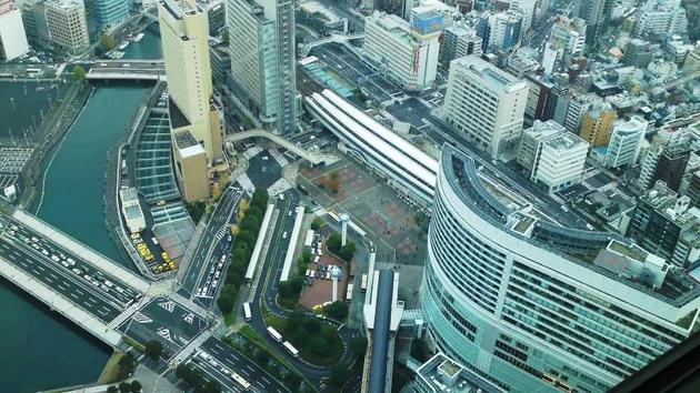 ランドマークタワー スカイガーデン展望デッキからの風景2.jpg